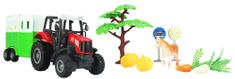 GearBox traktor z przyczepą do przewozu zwierząt, 1:43