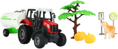 GearBox traktor z cysterną, 1:43, 10 elementów