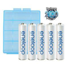 Panasonic Eneloop polnilne baterije v škatlici, 5 kosov (AAA)