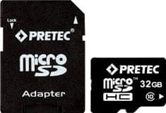 PRETEC microSDHC 32 GB (class 10) + adaptér na SD