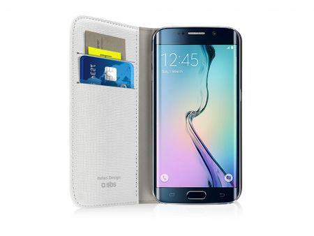 SBS preklopna torbica za Samsung Galaxy S6 Edge, bela