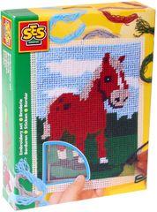 SES Vyšívání dečka kůň