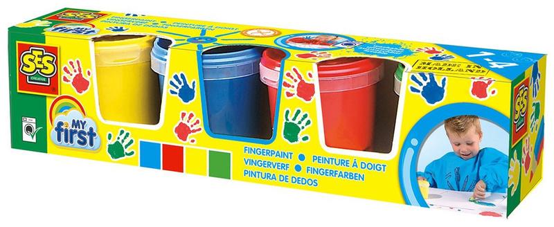 SES Moje první prstové barvy 4x150 ml