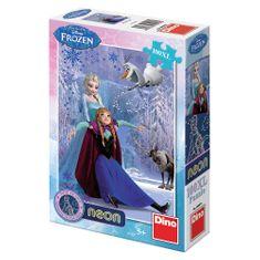 DINO puzzle Ľadové kráľovstvo neon