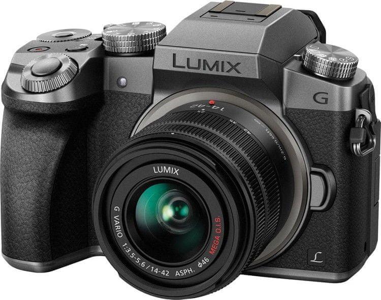 Panasonic Lumix DMC-G7 + 14-42 Silver (DMC-G7KEG-S)