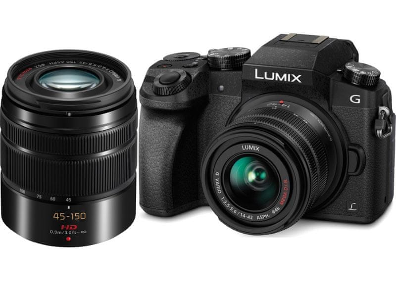 Panasonic Lumix DMC-G7 + 14-42 + 45-150 mm Black (DMC-G7WEG-K)