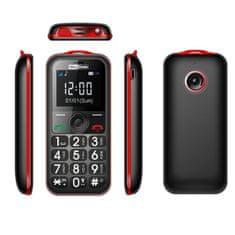 MaxCom telefon komórkowy MM560BB, czerwony