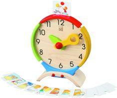 Plan Toys drewniany zegar
