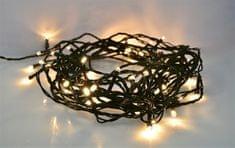Solight Klasszikus Karácsonyi Fényfüzér, IP44, 300 LED, 30 méter hosszú, Kábel 5 méter hosszú, Melegfehér