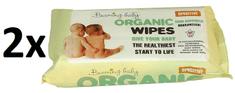 Beaming Baby Organické čistící ubrousky s vůní, 2 x 72 ks