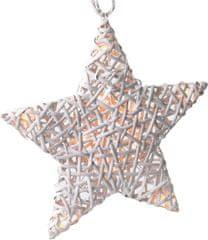 Solight Karácsonyi csillag alakú dekoratív világítás, 10 LED, fehér
