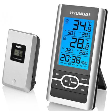 Hyundai vremenska postaja WS1070, srebrna