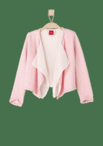 s.Oliver dívčí svetr bez zapínání 98 růžová