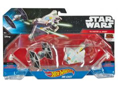 Hot Wheels Star Wars - TIE Fighter i Ghost Statek kosmiczny dwupak CGW90