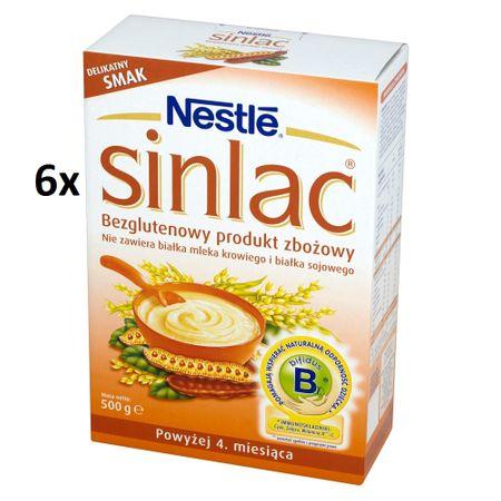 Nestlé Sinlac Bezglutenowy produkt zbożowy powyżej 4. miesiąca 6 x 500 g