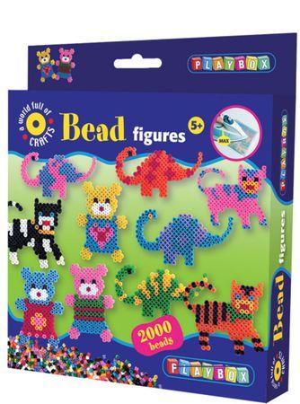 PLAYBOX Medve-dínó-cica gyöngyképkészítő szett