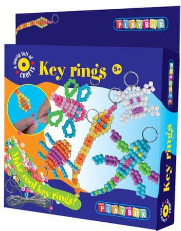 PLAYBOX Kulcstartókészítő gyöngyfűzőkészlet