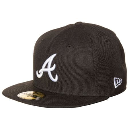 New Era LEAGUE BASIC ATLANTA BRAVES BLACK/OPTIC WHITE 58,7 cm Fekete/Fehér