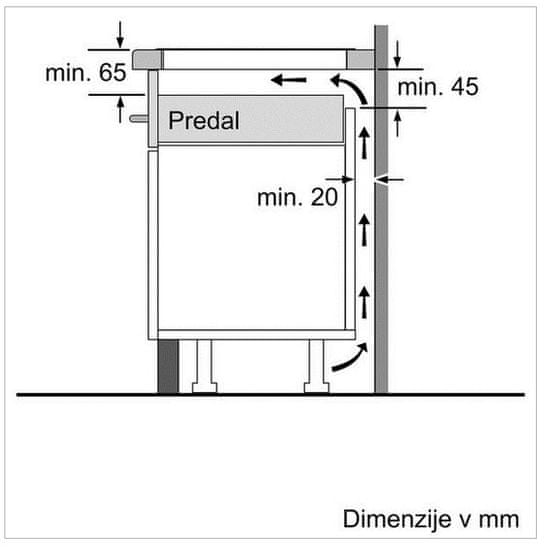 Bosch indukcijska kuhalna plošča PXE645FC1E
