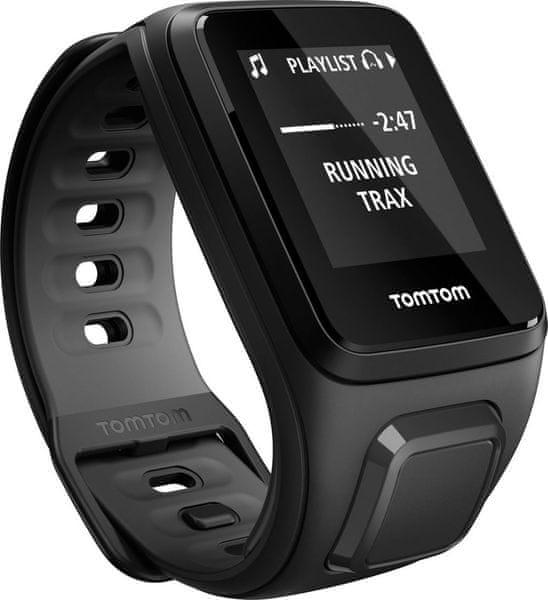 """TomTom Runner 2, Music GPS, Black Anthracite, """"L"""""""