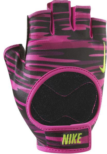 Nike Women's Fit Training Gloves Vivid Pink/Black/Volt L