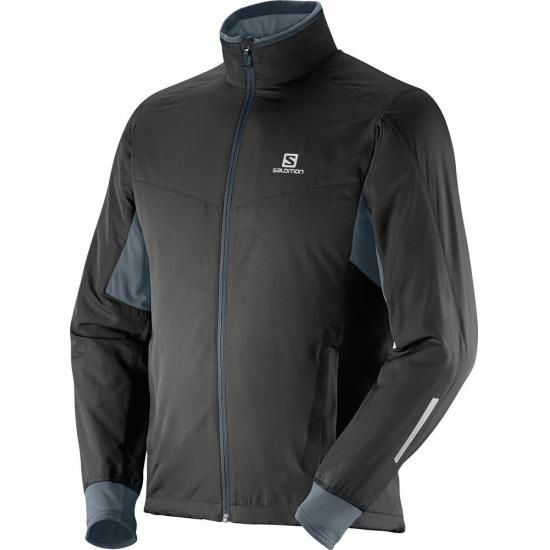 Salomon Escape Jkt M Black/Dark Cloud S