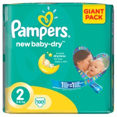 Pampers Pampers New Baby 2 Mini (3-6kg) Giant Pack - 100 ks