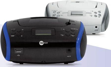 MP Man radio CSU336PLL, belo-srebrn