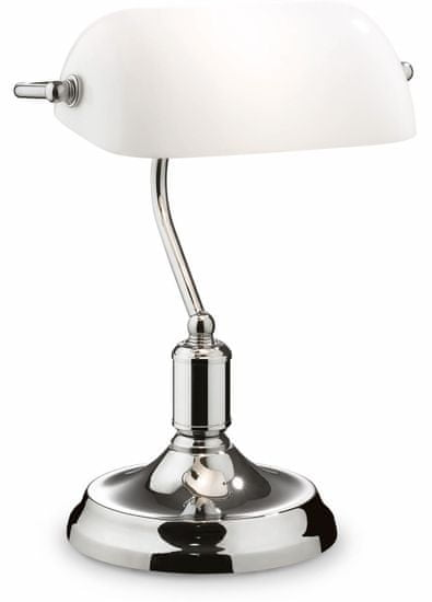 Ideal Lux Stolní lampa Lawyer Cromo 45047