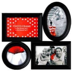 Postershop Fotorám - 4 okná čierny 10x15 - 10x10