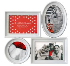 Postershop Fotorám - 4 okná biely 10x15 - 10x10
