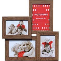Postershop Fotorám – 4 okna hnědý