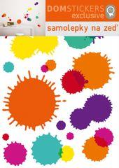 Postershop Samolepka na zeď, barevné skvrny
