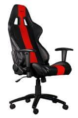 C-Tech gamerski stol Phobos, črno-rdeč (GCH-01R)