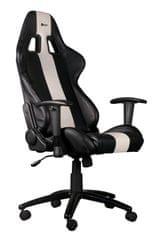 C-Tech gamerski stol Phobos, črno-bel (GCH-01W)