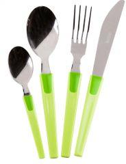 Monix pribor za jelo Rainbow, zeleni, 24 dijelni