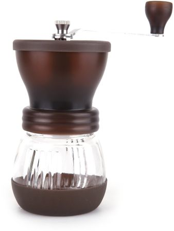Ceramic Blade ročni mlinček za kavo, rjavi