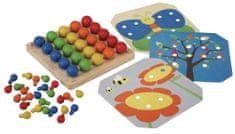 Plan Toys Drewniana plansza z obrazkami i kołeczkami