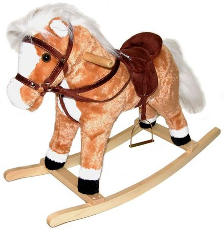 Wiky Plyšový hojdací kôň 60cm