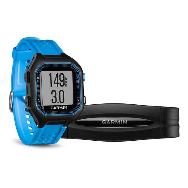 Garmin Forerunner 25, Black Blue, GPS, HR, XL