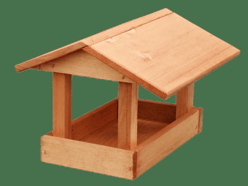 Krmítko dřevěné - Malé hnědé