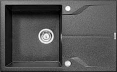 Deante granitno pomivalno korito ANDANTE ZQN 2113, grafitno sivo