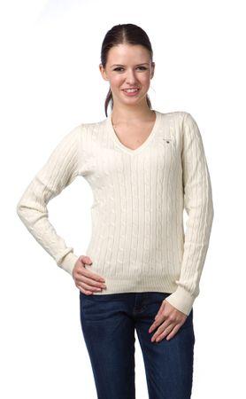 Gant pletený dámský svetr M smetanová