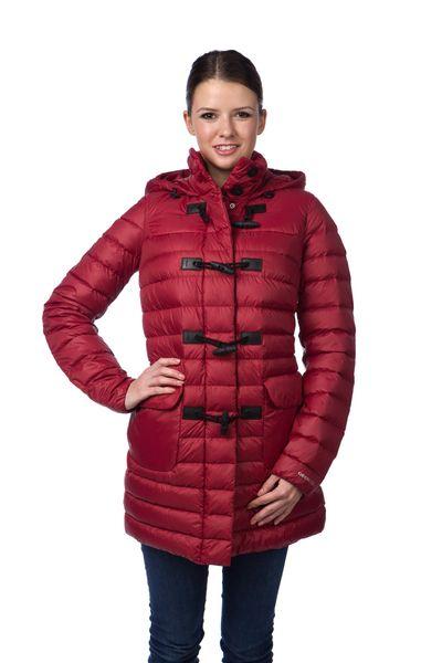 Geox dámský péřový kabát 46 červená