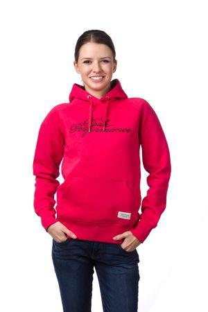 PeakPerformance dámská mikina s kapucí M růžová