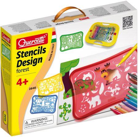 Quercetti Design Forest Stencils