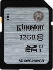 Kingston pomnilniška kartica SDHC Class10 UHS-I 32 GB (SD10VG2/32GB)