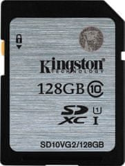 Kingston spominska kartica 128GB SDXC CL10 UHS-I, 45MB/s