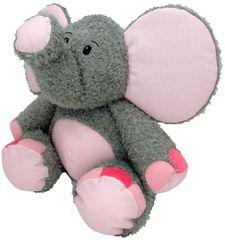 MÚ BRNO Slon Valda 45cm, šedo-ružový