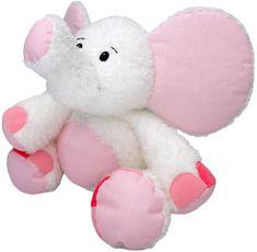 MÚ BRNO Slon Valda 45cm, bielo-ružový